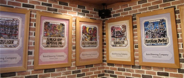 Numazu Taproom posters © Tokyo Food FIle