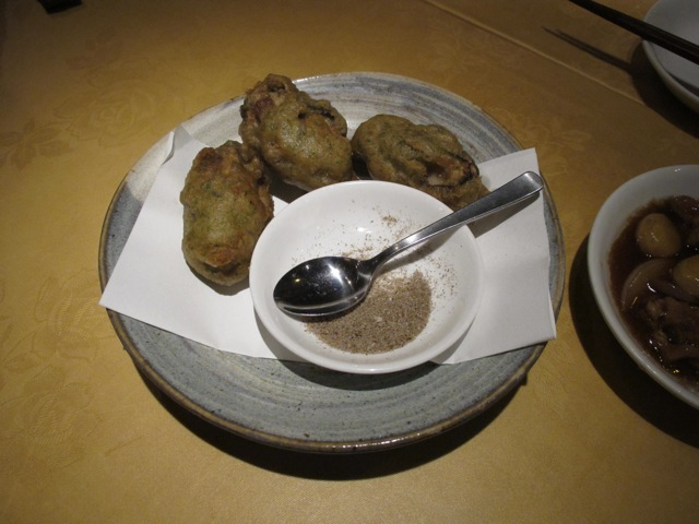 kanko shuten - oyster fritters