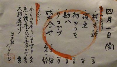 Nakamura menu2  © Tokyo Food File