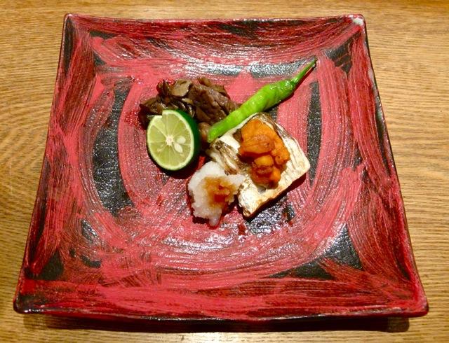 suzunari red plate (c) Tokyo Food File