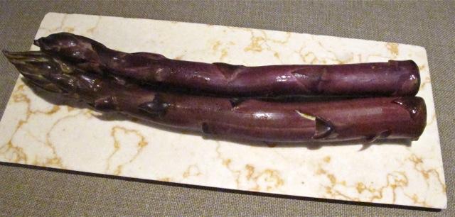 Takazawa purple aspara © Tokyo Food File