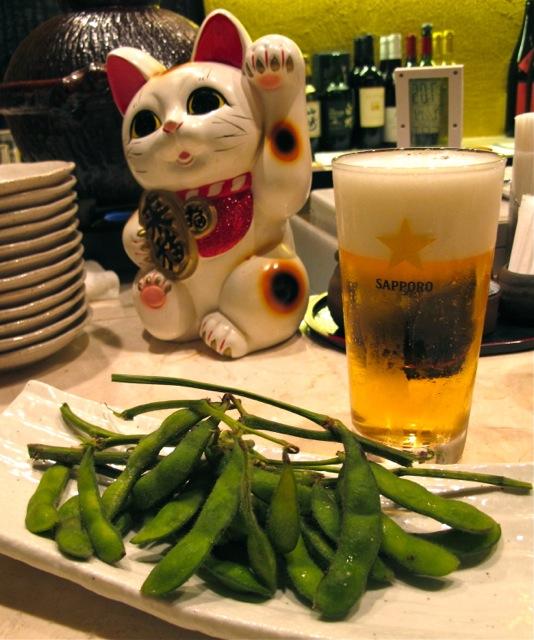 Edamame maneki © Tokyo Food File