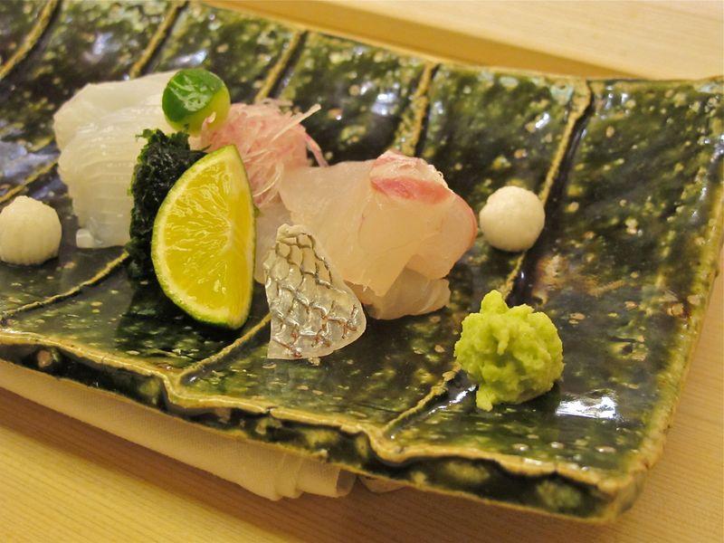 wasabi w/ sasahimi © Tokyo Food File