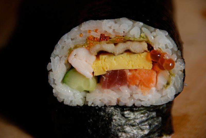 ehomaki crosssection © Tokyo Food File