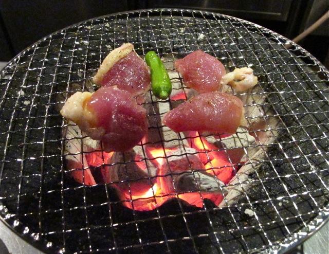 shichirin pheasant © Tokyo Food File