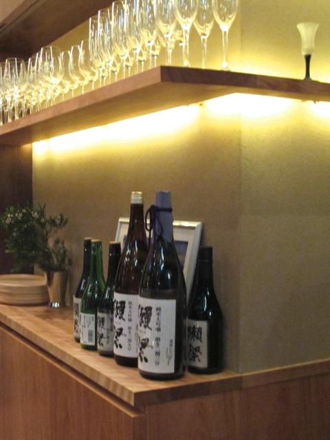 Dassai bar glasses © Tokyo Food File