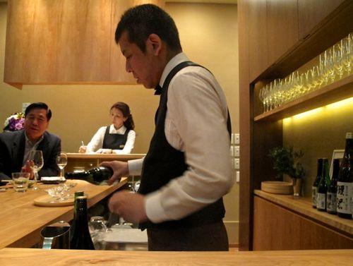 Dassai bar tender © Tokyo Food File