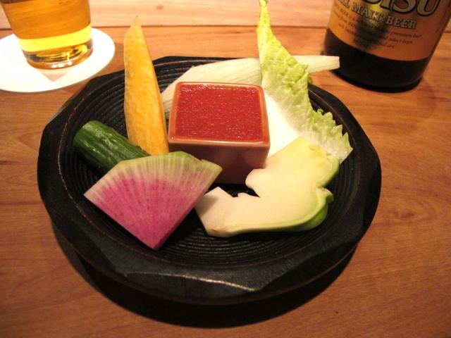 Shokkan crudités 2 © Tokyo Food File