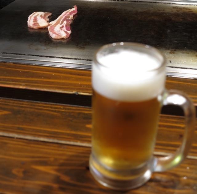 Kagiroi teppan beer © Tokyo Food File