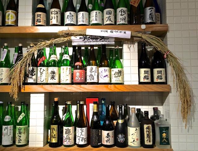 Akomeya sake shelf © Tokyo Food File