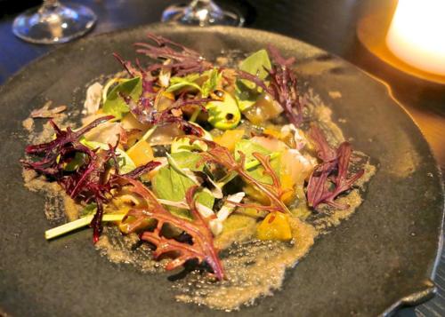 La Bonne Table sawara salad © Tokyo Food File