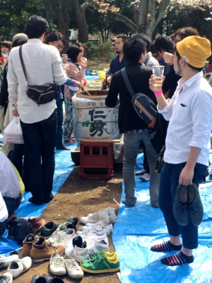 Hanami taruzake2 © Tokyo Food File