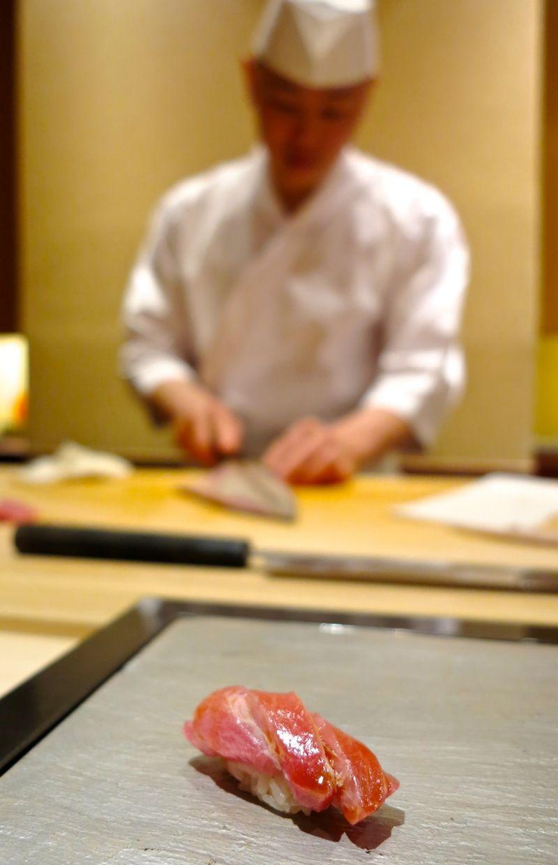 Chef Hisayoshi Iwa otoro © Tokyo Food File