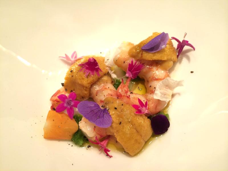 JG uni + warm shrimp © Tokyo Food FIle