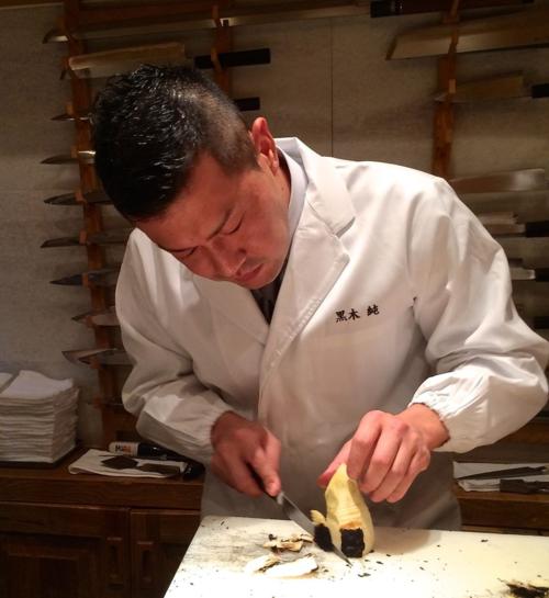 Kurogi shirako takenoko chef Kurogi 1 © Tokyo Food File