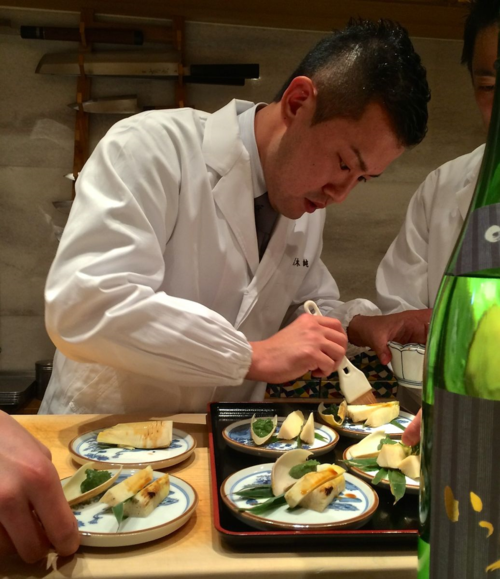 Kurogi shirako takenoko Chef Kurogi 2 © Tokyo Food File