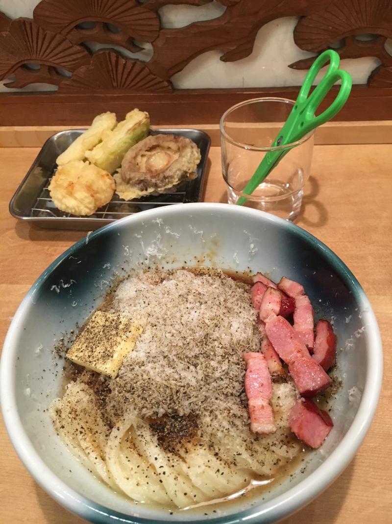 Men Chirashi Udon Carbonara © Tokyo Food File